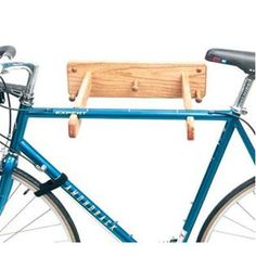 -Gear Up Oak Solo Wall Mount Bicycle Storage Rack  $51