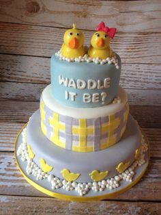 Waddle it be? Gender reveal cake!- Cake Ops Cakery