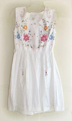 twobutterflies: Cross Stitch Dress Refashion