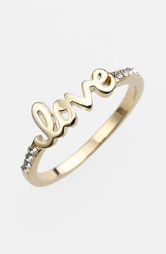 'Love' Script Ring