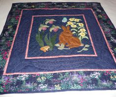 "The pinner wrote,""This is one of my quilts - an appliqued baby quilt."""
