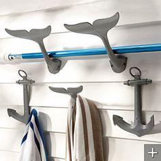 anchor & whale tail hooks @Sarah Solsvig