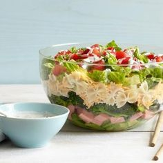Something to go with your soup - Seven layer pasta salad recipe