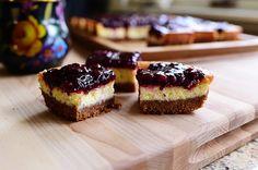 Blackberry Cheesecake Squares sour cream