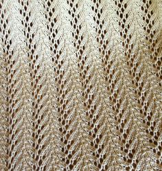 Vine Lace stitch pattern, knit stitch, knitting patterns, vines, vine lace