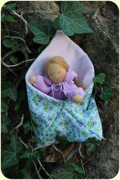 Sleeping doll  Waldorf inspired. Baby doll. Waldorf pocket doll.