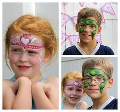 Have facepainting at your circus party #SocialCircus