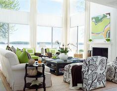 White + Green - Love the windows