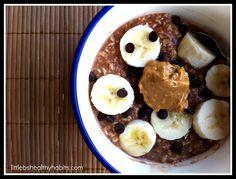Banana Chocolate Peanut Butter Overnight Oats