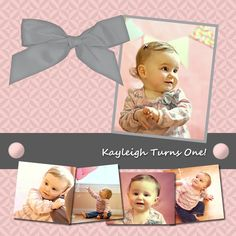 How cute is this! maybe its the baby or the layout i'm not sure.  first birthday scrapbook ideas