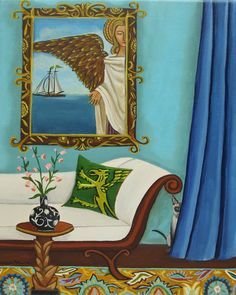 """Crown and Anchor Me"" by Catherine Nolin. Acrylics on canvas, 2012."