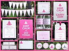Printable Yoga Invitation & Birthday Party Collection