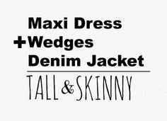 Blog post will help you achieve TALL and SKINNY!  :)