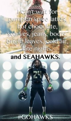 This is so me!!! Looking forward to fall and Go Seahawks! #Seahawks