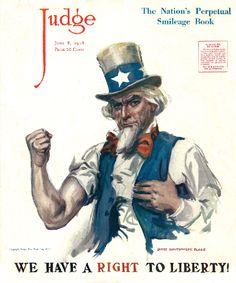 Judge Magazine Cover Uncle Sam 1918