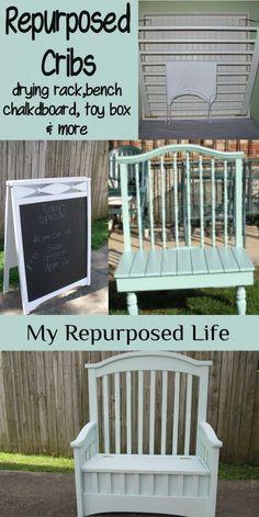 My Repurposed Life--Repurposed Crib Projects