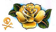 Old school rose tattoo flash