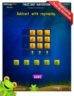 Second Grade Math Apps - Three digit subtraction - Count on hundreds tens ones Worksheet