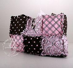 Adorable rag quilt purse