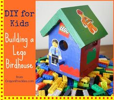 Building a Lego Birdhouse from Crayon Freckles