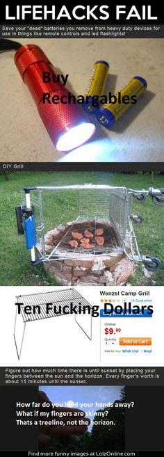 lifehacks fail batteries grill