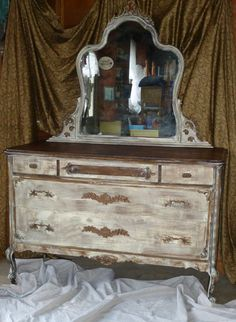 Old West Dresser Vintage Poppy Cottage by poppycottage