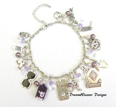 Pretty Little Liars Charm Bracelet Number 1 by DreamWeaverDesigns, $17.95