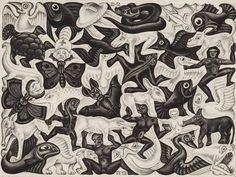 """Obra """"Ladrilhamento I"""", de M.C. Escher, parte de exposição em São Paulo"""