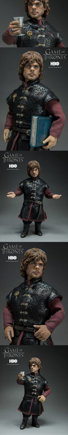 Spot On Tyrion Lannister Figure Is Ready To Toast This beautiful figure is the prefect collectible for all you Tyrion Lannister fans out there. It features an incredible amount of detail and lots of accessories. It's more proof that threezero is one of the best figure makers out there.