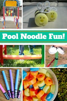 12 Ideas for Pool Noodle Fun - Spaceships and Laser Beams