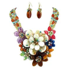 multi colored jewelry sets