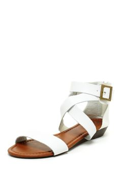 perfect white summer sandals