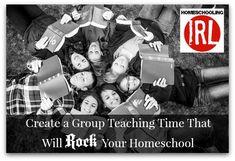 Creating a Group Teaching Time That Will Rock Your Homeschool http://www.homeschoolingirl.com/blog/creating-a-group-teaching-time-that-will-rock-your-homeschool