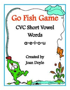 Go Fish CVC Short Vowel Word Game