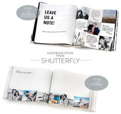 Shutterfly Photo Guestbooks + A Giveaway!  Read more - http://www.stylemepretty.com/2013/07/09/shutterfly-photo-guest-books/