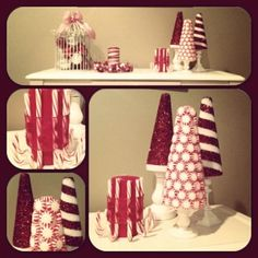 DIY candy cane christmas decor