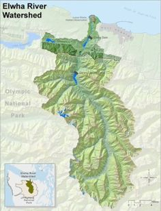 Elwha Watershed Map - This site has really cool timelapse videos of the dams coming down.