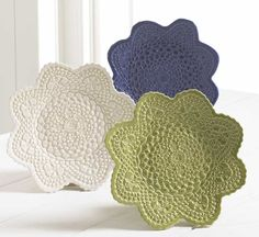 Maggie Weldon, Lace Pottery Ornamental Bowls