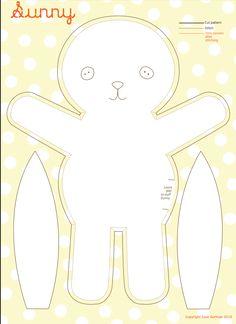 patron de lapin en tissu /  DIY Sewing Bunny   #diy #craft #sew