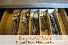 Buy More Forks - Things I Keep Multiples Of | Organize 365