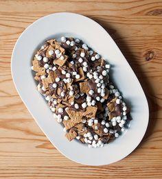bonfir, marshmallow, smore snack, sea salt, food