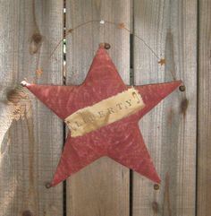 Primitive Star Door Hanger by PrairiePrimitives