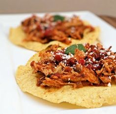 Chipotle Chicken Tostadas - great leftover beef or chicken recipe I think Chris would love.