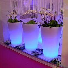 Pot lumineux jardin X-pot light slide
