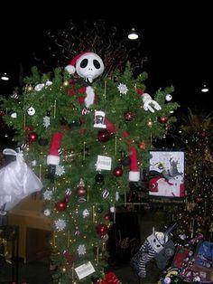 An upside down Nightmare Before Christmas tree: