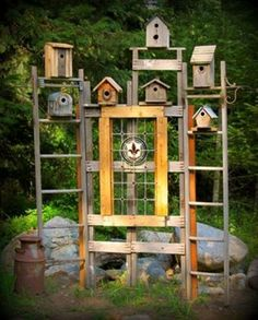 Kirk Willis's  bird house trellis  Complete how to...
