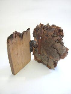 """wood book"" by lexi hayman via a billion tastes and tunes #bookart #books #leaves #plants #lexihayman #paper"
