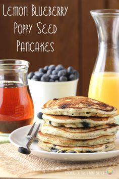 seed pancak, fluffi pancak, poppi seed, lemon blueberri, blueberri poppi, brunch, pancak perfect