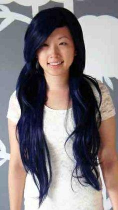 new hair color on pinterest black hair indigo hair and
