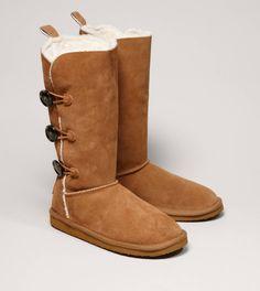 AEO Tall Button Warm  Fuzzy Boot